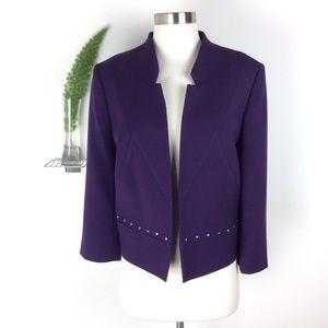 Tahari Gorgeous Studded Open Blazer Size (10)